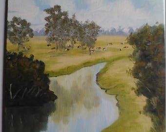 Oil Painting Landscape River View