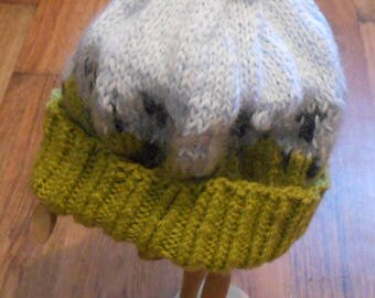 SALE Cute Knit Hat Sheep Toque Wool Charity