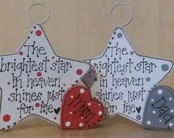 Brightest Star In Heaven Rememberance Photo Holder