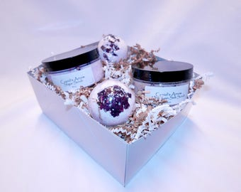 Romance / Valentine's Day Bath Scrub's and Bath Bomb Spa Gift