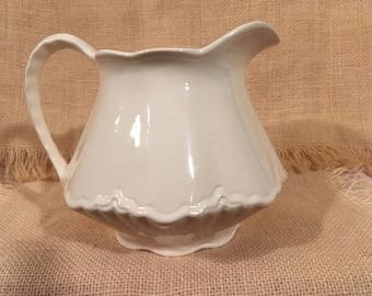 Homer Laughlin Off-White / Cream Colored Pitcher