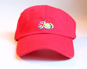 Small-fit Baseball Cap - Red | Women's | Sushi Patch