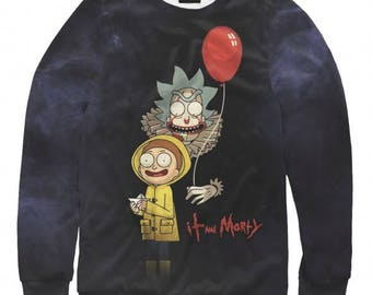 Rick and Morty Art Full Print Sweatshirt It and Morty All Sizes XS-6XL