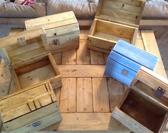 Wooden chest, wooden box, treasure chest