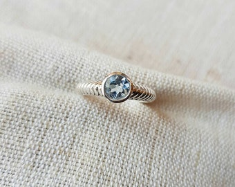 Natural Sky Blue Topaz gemstone 925 solid sterling silver handmade ring available in all US & European Ring sizes Birthstone sky topaz ring