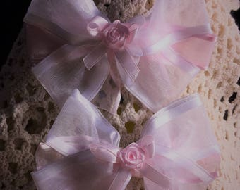 Hair Bows, Boutique bow, Pinwheel Bow, Fancy Bow, Stacked Boutique, Girls hair bow, Easter Bow, Rose Center, Pink on Pink, Overstacked Bow