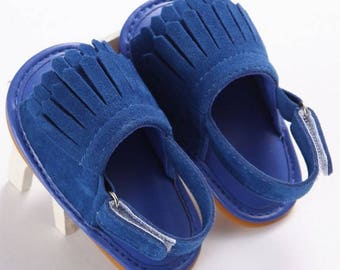 Free shipping to US and PR,blue suede shoes,suede blue sandals,shoes,newborn shoes,baby moccasins,girl shoes,sandals baby,toddler shoes