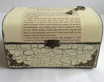 Harry Potter.Gift for Harry Potter fan, Keepsake Box, Handmade Box, Upcycled Book