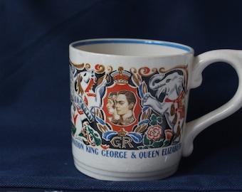 King George and Queen Elizabeth  1937 Coronation Mug