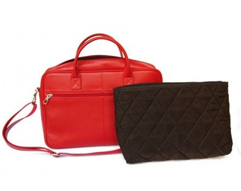 MJ Leather Bag Handmade in Morocco,Red Color Leather Goods