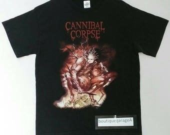 Rare!! Cannibal corpse spellout big logo pull over black colour large size