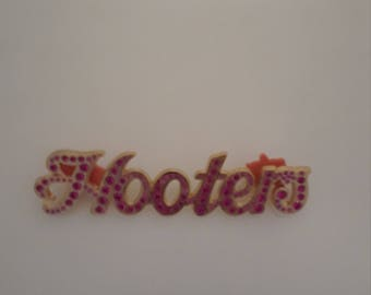Bedazzled Hooters Pin