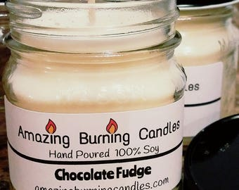 Soy Candle-8oz candle-Christmas gift for her-Amazing Burning Candles-Chocolate Fudge