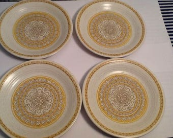 "Four Beautiful Franciscan ""Hacienda Gold""  Bread and Butter Plates"
