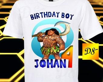 Moana Iron On Transfer, Moana Birthday Shirt Iron On Transfer, Moana Personalize Iron On Transfer, Digital File Only