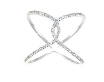 Diamond  Horseshoe Lux Fashion Ring