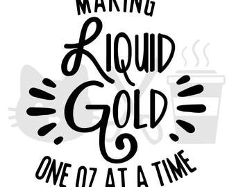 Making Liquid Gold One OZ At A Time Decal, Pumping, Breastpump