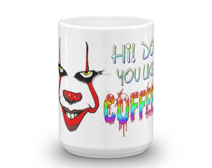 Scary Clown Mug, Horror Jester Cup, Parody Design, Inspired by Clown Fear, Perfect Gift for Thriller Lovers, Great Gift Idea