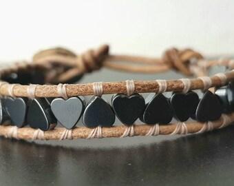 Bracelet with hematite stones