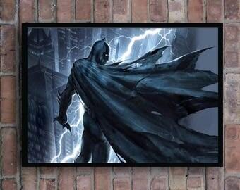 Batman the dark knight of Gotham city justice league superheroes home decor poster
