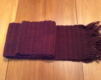 Wool knitted scarf /woolly winter scarf