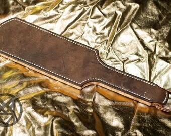 Unique leather BDSM spanking paddle