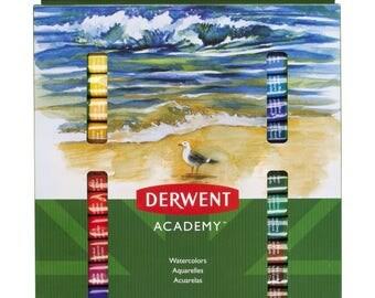Derwent Academy Watercolour Paints, 12 mL Tubes, 24 Assorted Colours