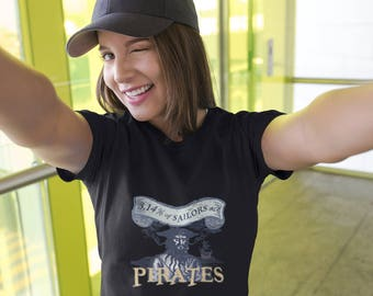 Pi Day Shirt | Pi Day Pirate | Pi Day gift | Math t-shirt | Geeky Pi t-shirt | 3.14% Sailors arr pirates | Women's short sleeve t-shirt