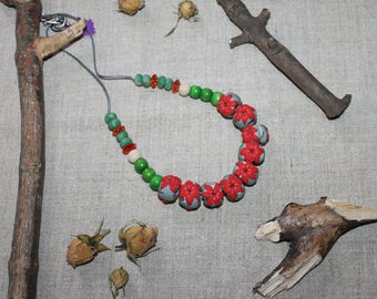 Beads Red lily