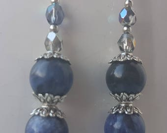 Sodalite bead earrings