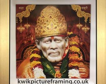 """Sai Baba of Shirdi Hindu God Size - 10"""" X 10"""" Inches"""