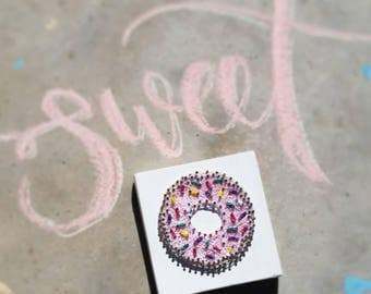 Sweet Pink Donut String Art. Donut Wall Decor. Donut String Art. READY TO SHIP