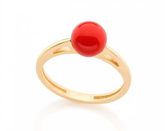 18K Gold Platted earrings, Red