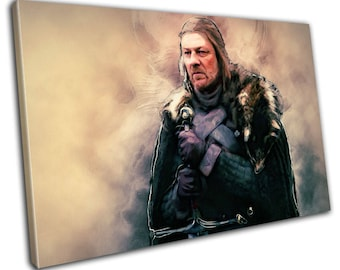 Eddard Stark Game Of Thrones Canvas Print - Abstract Art - Wall Art - Framed Print - Ready To Hang