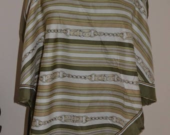 Vintage Comtesse silk scarf