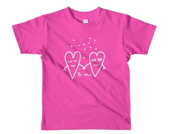 Be Mine Cute Valentine Shirt for Kids