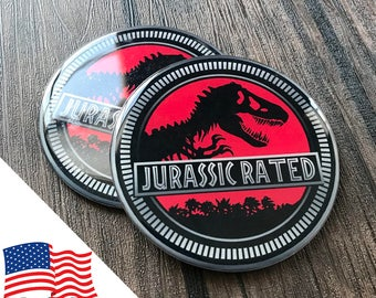 2PCS Jeep Wrangler Custom Badge Emblem (Trail Rated) 07-18 Jurassic Park