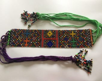 African Zulu Beaded Belt