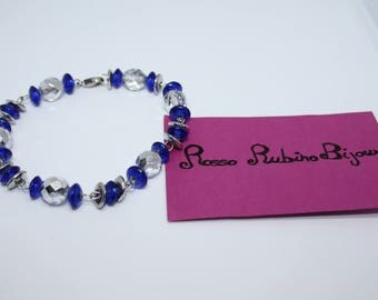 Bracelet with crystal means
