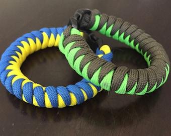 2 Color Corkscrew/Snakeknot Paracord Bracelet