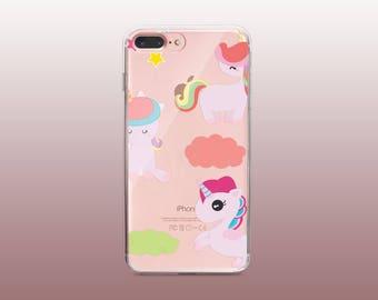Unicorn Clear TPU Phone Case for iPhone 8- iPhone 8 Plus - iPhone X - iPhone 7 Plus-iPhone 7-iPhone 6-iPhone 6S-Samsung S8