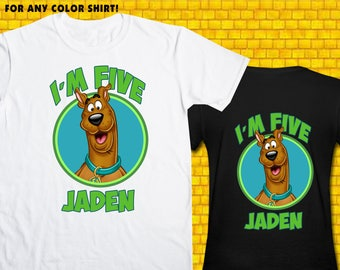 Scooby Doo / Iron On Transfer / Scooby Doo Birthday Shirt Design / DIY Shirt / High Resolution / For Any Color T Shirt / 12 Hours Turnaround