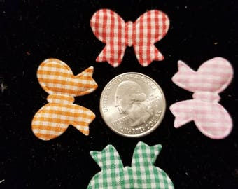 Cute Padded Applique Bows 20 Pieces for sewing/doll making/hairbow/scrapbooking/crafts, etc.