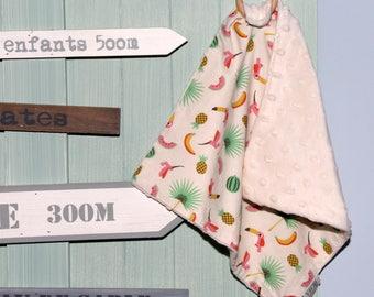 """Doudou anneau de dentition bébé - Oeko Tex - Collection """"Tropiques"""""""