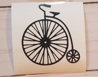 Vinyl Decal- High Wheel Bicycle