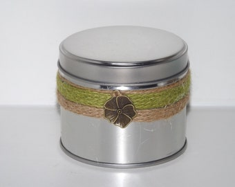 Coconut, Lime Explosion Fragranced Soy Container Candle.