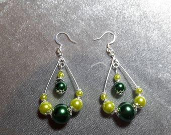 Teardrop beaded earrings