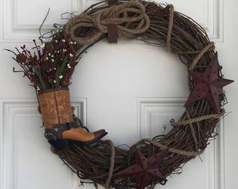 Rustic Cowboy/Cowgirl Wreath
