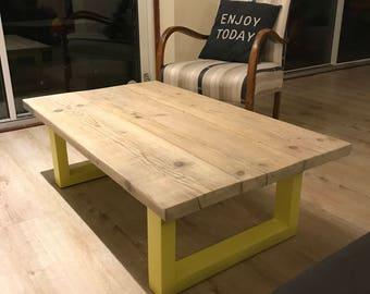 Reclaimed bespoke scaffold board coffee table