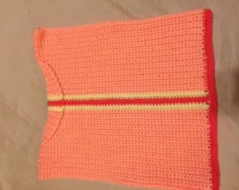 Hand crocheted orange top